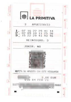 La Primitiva online ticket