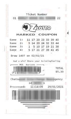 Lotto Oz Tickets online