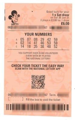 billets de loterie UK